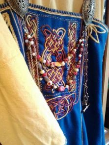 Embroidery on an apron. Not Historically accurate