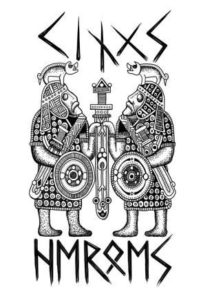 Tee shirt design I did and had printed for His Grace Styrkarr Jarlsskald's Kings guard. Artwork by Baroness Maricka Sigrunsdotter.